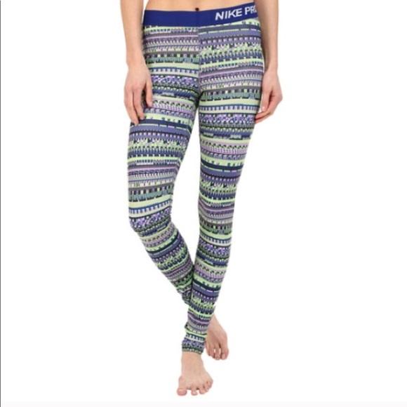 42be20343b477 Nike Pants | Pro Dri Fit 8 Bit Patterned Leggings | Poshmark